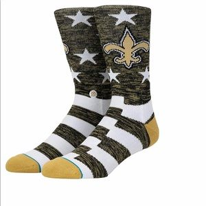 NFL New Orleans Saints Banner Socks NWT Large 9-12